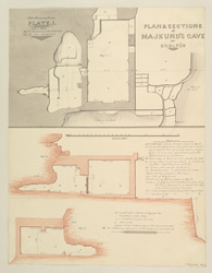 Miscellaneous Series Plate.1. Plan and Sections of Majkund's Cave at Dholpur (Rajputana)